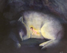 Wolf Fairy Sleeping